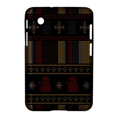Tardis Doctor Who Ugly Holiday Samsung Galaxy Tab 2 (7 ) P3100 Hardshell Case  by Onesevenart