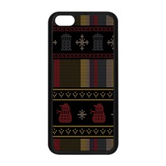 Tardis Doctor Who Ugly Holiday Apple Iphone 5c Seamless Case (black) by Onesevenart