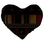 Tardis Doctor Who Ugly Holiday Large 19  Premium Flano Heart Shape Cushions
