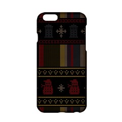 Tardis Doctor Who Ugly Holiday Apple Iphone 6/6s Hardshell Case by Onesevenart