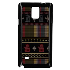 Tardis Doctor Who Ugly Holiday Samsung Galaxy Note 4 Case (black) by Onesevenart