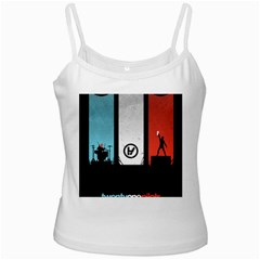 Twenty One 21 Pilots White Spaghetti Tank by Onesevenart