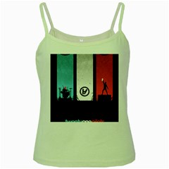 Twenty One 21 Pilots Green Spaghetti Tank by Onesevenart