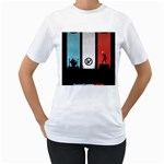 Twenty One 21 Pilots Women s T-Shirt (White) (Two Sided)