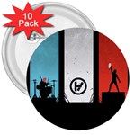 Twenty One 21 Pilots 3  Buttons (10 pack)