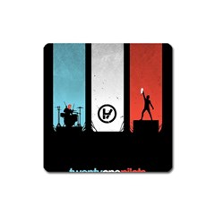 Twenty One 21 Pilots Square Magnet by Onesevenart