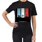Twenty One 21 Pilots Women s T-Shirt (Black) (Two Sided)