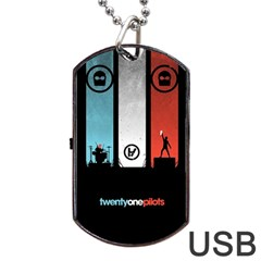 Twenty One 21 Pilots Dog Tag Usb Flash (two Sides)  by Onesevenart
