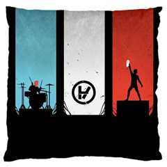 Twenty One 21 Pilots Large Cushion Case (one Side) by Onesevenart