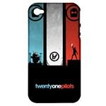 Twenty One 21 Pilots Apple iPhone 4/4S Hardshell Case (PC+Silicone)