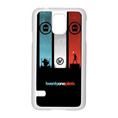 Twenty One 21 Pilots Samsung Galaxy S5 Case (white) by Onesevenart
