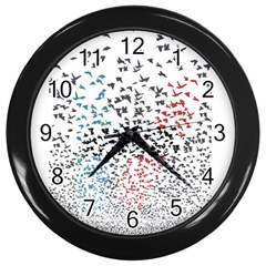 Twenty One Pilots Birds Wall Clocks (black) by Onesevenart