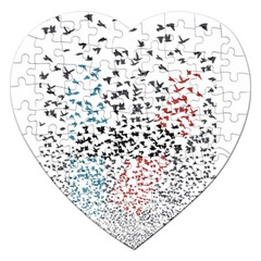 Twenty One Pilots Birds Jigsaw Puzzle (heart) by Onesevenart