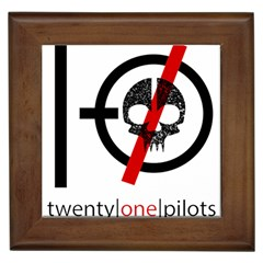 Twenty One Pilots Skull Framed Tiles by Onesevenart