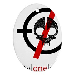 Twenty One Pilots Skull Ornament (oval)  by Onesevenart
