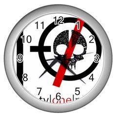 Twenty One Pilots Skull Wall Clocks (silver)  by Onesevenart