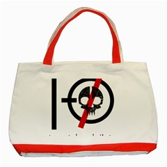 Twenty One Pilots Skull Classic Tote Bag (red) by Onesevenart