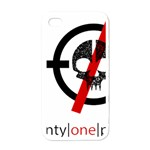 Twenty One Pilots Skull Apple iPhone 4 Case (White)