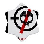 Twenty One Pilots Skull Ornament (Snowflake)