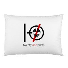 Twenty One Pilots Skull Pillow Case (two Sides) by Onesevenart