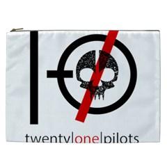 Twenty One Pilots Skull Cosmetic Bag (xxl)  by Onesevenart