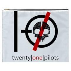 Twenty One Pilots Skull Cosmetic Bag (xxxl)  by Onesevenart
