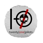 Twenty One Pilots Skull Standard 15  Premium Round Cushions