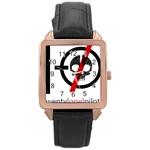 Twenty One Pilots Skull Rose Gold Leather Watch