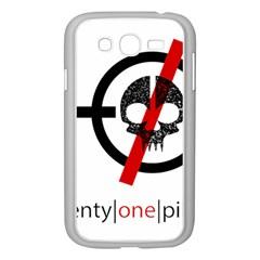 Twenty One Pilots Skull Samsung Galaxy Grand Duos I9082 Case (white) by Onesevenart