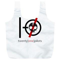 Twenty One Pilots Skull Full Print Recycle Bags (l)  by Onesevenart