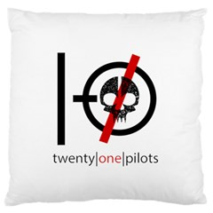 Twenty One Pilots Skull Standard Flano Cushion Case (one Side) by Onesevenart