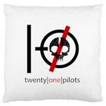 Twenty One Pilots Skull Large Flano Cushion Case (One Side)