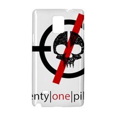 Twenty One Pilots Skull Samsung Galaxy Note 4 Hardshell Case by Onesevenart