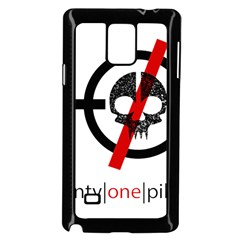 Twenty One Pilots Skull Samsung Galaxy Note 4 Case (black) by Onesevenart