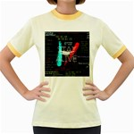 Twenty One Pilots Stay Alive Song Lyrics Quotes Women s Fitted Ringer T-Shirts