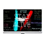 Twenty One Pilots Stay Alive Song Lyrics Quotes Business Card Holders
