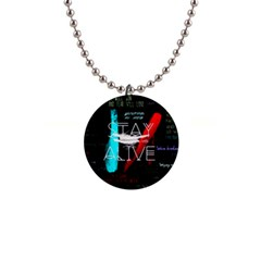 Twenty One Pilots Stay Alive Song Lyrics Quotes Button Necklaces by Onesevenart