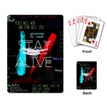 Twenty One Pilots Stay Alive Song Lyrics Quotes Playing Card