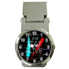 Twenty One Pilots Stay Alive Song Lyrics Quotes Money Clip Watches by Onesevenart