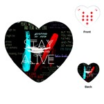 Twenty One Pilots Stay Alive Song Lyrics Quotes Playing Cards (Heart)