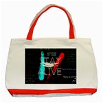 Twenty One Pilots Stay Alive Song Lyrics Quotes Classic Tote Bag (Red)