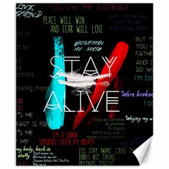 Twenty One Pilots Stay Alive Song Lyrics Quotes Canvas 8  X 10  by Onesevenart