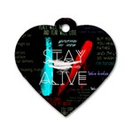 Twenty One Pilots Stay Alive Song Lyrics Quotes Dog Tag Heart (One Side)