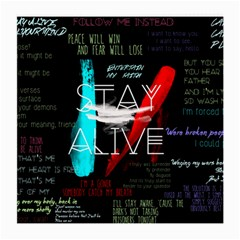 Twenty One Pilots Stay Alive Song Lyrics Quotes Medium Glasses Cloth by Onesevenart
