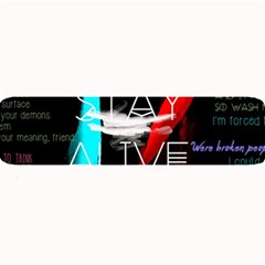 Twenty One Pilots Stay Alive Song Lyrics Quotes Large Bar Mats by Onesevenart