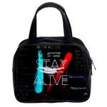Twenty One Pilots Stay Alive Song Lyrics Quotes Classic Handbags (2 Sides)