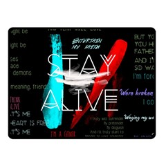 Twenty One Pilots Stay Alive Song Lyrics Quotes Fleece Blanket (small) by Onesevenart