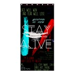 Twenty One Pilots Stay Alive Song Lyrics Quotes Shower Curtain 36  x 72  (Stall)