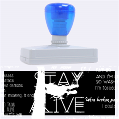 Twenty One Pilots Stay Alive Song Lyrics Quotes Rubber Address Stamps (xl) by Onesevenart