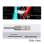 Twenty One Pilots Stay Alive Song Lyrics Quotes Memory Card Reader (Stick)
